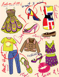 Fashion story for glamour magazine Stock Photography
