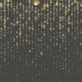 Fashion strass drops with shiny sequins. Christmas and New Year effect. Sparkling of shimmering light blurs. Overlay. Transparent glitter threads of curtain stock illustration