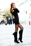 Fashion on the street royalty free stock photography