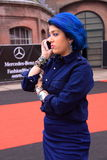 Fashion in the street of Amsterdam stock photography