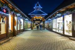 Fashion Street at night in Zakopane Stock Photos