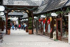 Fashion Street in Zakopane Stock Photos