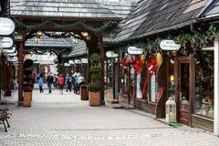 Fashion Street in Zakopane Stock Photos