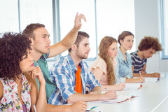 Fashion students being attentive in class Royalty Free Stock Photography
