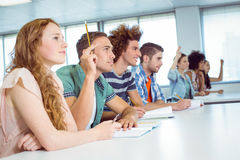 Fashion students being attentive in class Stock Photos
