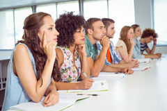 Fashion students being attentive in class Stock Photography