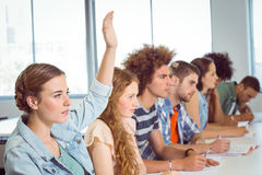 Fashion students being attentive in class Royalty Free Stock Images