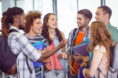 Fashion students chatting and smiling Royalty Free Stock Photography