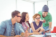 Fashion students working as a team Stock Photos