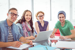 Fashion students working as a team Royalty Free Stock Photo
