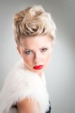 Fashion studio portrait of attractive woman Stock Photography
