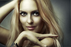 Fashion studio portrait of young sexy model Stock Photo
