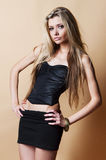 Fashion studio portrait of young woman Royalty Free Stock Photos