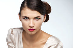Fashion studio shot of beautiful woman Royalty Free Stock Image