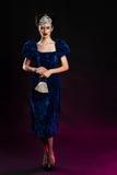Fashion studio shot of beautiful woman with makeup Royalty Free Stock Image
