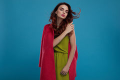 Fashion Style. Beautiful Woman Model Wearing Fashionable Clothes Royalty Free Stock Photography
