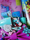 Fashion style blog. Glamourous colors look Royalty Free Stock Photo