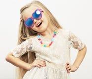 Fashion style girl studio portrait. Stock Images