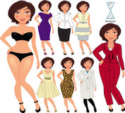 Fashion style for hourglass Royalty Free Stock Photos