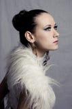 Fashion style model portrait Royalty Free Stock Photos
