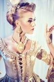 Fashion style photo of a beautiful blonde Stock Photography