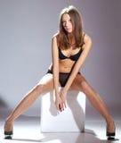 Fashion style photo of young beautiful woman Stock Photography