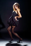 Fashion style photo of young beautiful woman Royalty Free Stock Image