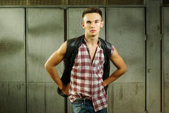 Fashion style photo of an young man Royalty Free Stock Photos
