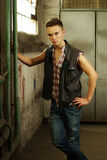 Fashion style photo of an young man Stock Image
