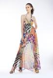 Fashion style - sensual female model on podium Royalty Free Stock Photo