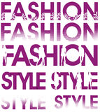 Fashion style signs Royalty Free Stock Image