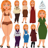 Fashion styles for hourglass Stock Image
