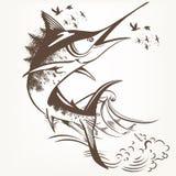 Fashion stylish artistic fish Stock Image