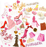 Fashion  stylish background Royalty Free Stock Image