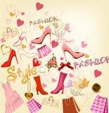 Fashion  stylish background Royalty Free Stock Photography