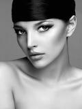 Fashion Stylish Beauty Portrait. Beautiful Girl Face Royalty Free Stock Photography