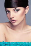 Fashion Stylish Beauty Portrait with healthy Hair. Beautiful Girl Face.Hairstyle Royalty Free Stock Image