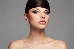 Fashion Stylish Beauty Portrait with healthy Hair. Beautiful Girl Face.Hairstyle Royalty Free Stock Photo
