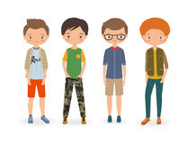 Fashion stylish boys Stock Photo