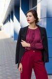 Fashion stylish business woman on the street Stock Photo
