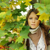 Fashion stylish woman autumn Royalty Free Stock Image