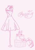 Fashion stylized doodle Stock Photography