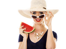Fashion summer caucasian woman with perfect skin Royalty Free Stock Photos