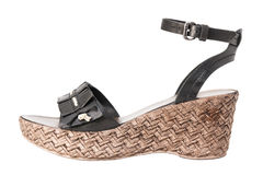 Fashion summer female shoes Stock Photo