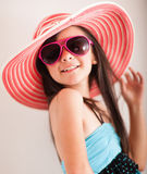 Fashion summer girl Stock Images