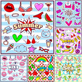 Fashion Summer Patch Badges Royalty Free Stock Image