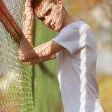 Fashion summer portrait handsome man model royalty free stock photos