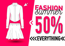 Fashion summer web banner. Sale Royalty Free Stock Image
