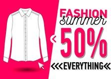 Fashion summer web banner. Sale Royalty Free Stock Photo