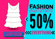 Fashion summer web banner. Sale Stock Photography